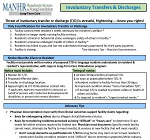 Involuntary Transfers and Discharges
